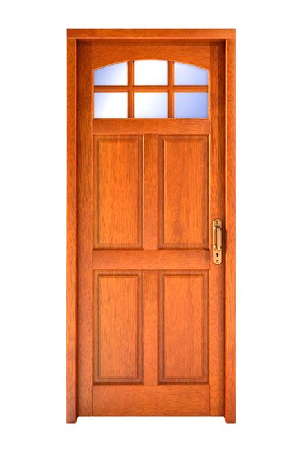 Puertas de exterior madera materiales de construcci n for Puertas de madera exterior