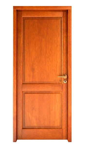 Puerta de madera interior con el vidrio puerta doble de madera con el