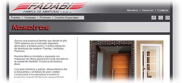 Fadabi fabrica de aberturas de madera puertas ventanas for Fabrica de aberturas de madera en rosario
